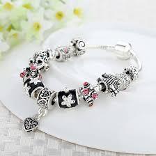 silver european bracelet images European popular 925 silver heart charm bracelet with glass beads jpg
