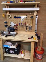 workbench with pegboard and light ana white worktable peg board and light diy projects