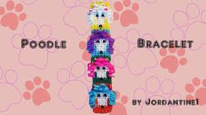grid pattern alpha new poodle dog bracelet alpha loom rainbow loom grid pattern