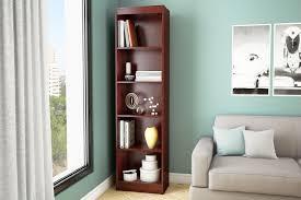 tall narrow bookcase axess 5 shelf narrow bookcase home furniture home office