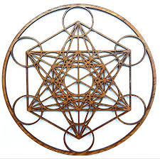 12 metatron s cube wooden wall hanging home decor sacred