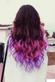 weave hairstyles with purple tips the dip dyed hairstyles that are just as cool as gigi hadid s pastel