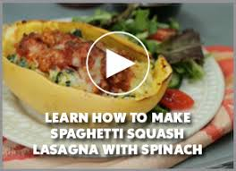 cooking light diet recipes spaghetti squash lasagna with spinach cooking light diet