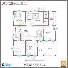 house plans with 4 bedrooms outstanding 4 bedroom single floor kerala house plan kerala home