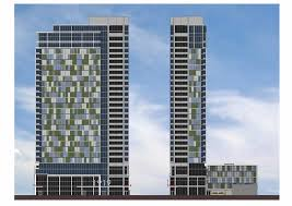 residential building elevation new luxury apartment tower at 1919 market street in center city
