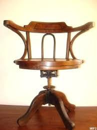 chaise de bureau en bois à fauteuil bureau ancien fauteuil de bureau ancien pivotant bois
