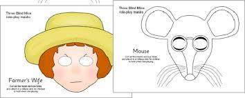 The Blind Mice Three Blind Mice Role Play Masks Sb187 Sparklebox
