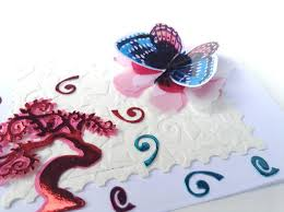 birthday card making fun with butterfly collage sheet and my new
