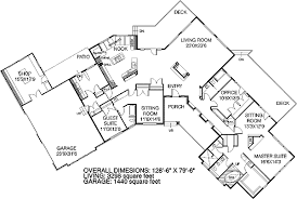 Corner House Floor Plans Plan 7850ld Spacious Ranch Design With Skylights Sitting Area
