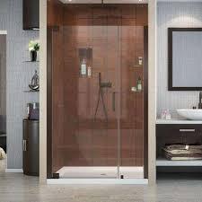 4 ft shower doors pivot hinged shower doors showers the home depot
