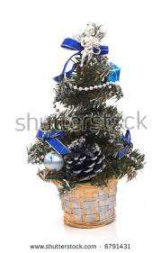 Mini Christmas Tree Table Decorations by Mini Christmas Tree Table Decoration Stock Photo 6791431