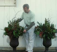 Christmas Decorations For Outdoor Pots winter porches creating outdoor holiday winter season porch pots