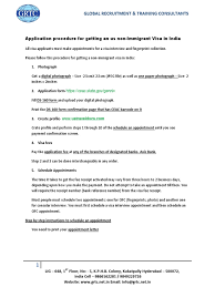 Confirmation Letter Of A Meeting Appointment Or Interview H4 Visa Booklet Travel Visa Identity Document