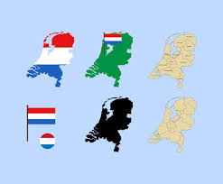 netherlands map flag 2 d netherlands map and flag vector graphics freevector
