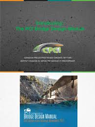 cpci pci bridge design manual presentation prestressed concrete