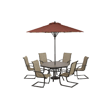 Hampton Bay Pembrey 7 Piece Patio Dining Set - shop garden treasures hayden island glass top brown hexagon patio