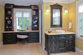Silver Bathroom Vanities Captivating Decorating Ideas Using Rectangular Brown Wooden Vanity
