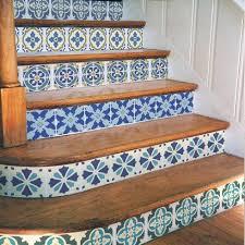 Tiles For Stairs Design Portuguese Tile Stencil Kit Trendy Patchwork Tile Stencils For