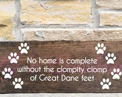 Great Dane Home Decor Great Dane Dog Sign Etsy