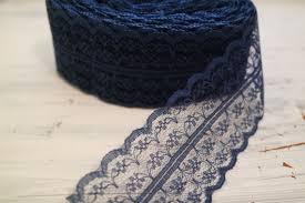 navy lace ribbon navy blue lace ribbon 10 yards blue trim 2 by theweddinghouse