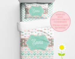 Green Bedding For Girls by Mint Duvet Cover Etsy