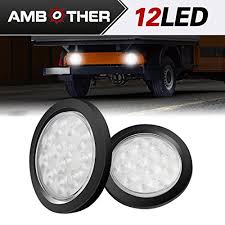 flush mount trailer lights ambother 4 round 12 led truck trailer brake stop turn marker tail