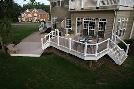 vinyl railing with black balusters decks u0026 fencing contractor talk