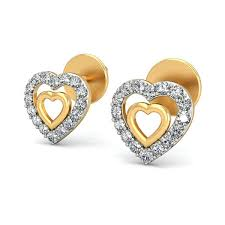 real gold earrings gold earrings online india real certified 0 2 ct gift