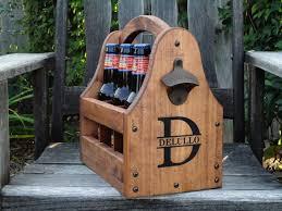 Wooden Groomsmen Gifts Wooden Beer Tote Personalized Beer Tote Handmade Beer Tote Wood