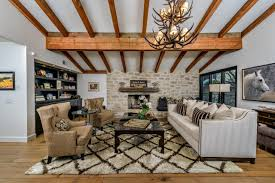 classy rustic living room interior with modern elements 13714
