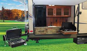 kitchen outstanding travel trailers with outdoor kitchens campers
