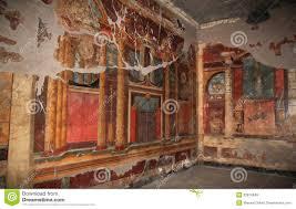 murals in the roman villa poppaea italy royalty free stock photos royalty free stock photo
