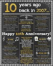 10th wedding anniversary gift ideas wedding anniversary gifts for him paper canvas 10 year