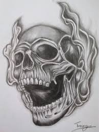 skull with roses design in drawings coloring pages