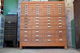 Library File Cabinet Modular Oak Wetzel Library Filing Cabinet Wooden 52 Drawer