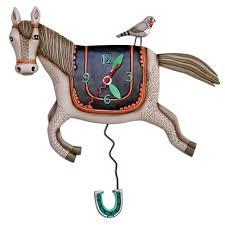 Clock Designs by Woah Horsey Horse Clock Allen Designs Studio