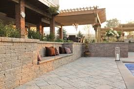 Patio Retaining Wall Pictures Poolside Retaining Wall With Built In Bench Traditional Patio