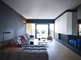 awesome living room themes for an apartment with black sofa and