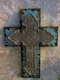 crosses wall decor fancy plush design metal cross wall decor decorative hanging with