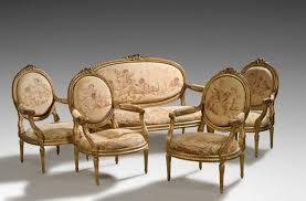 canapé mobilier de mobilier de salon comprenant un canapé et quatre fauteuils garnis à