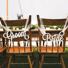 and groom chair covers groom wedding chair signs handmade