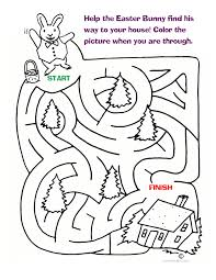fun easter bunny maze for the little ones fun printable