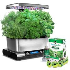 miracle gro aerogarden harvest elite bed bath u0026 beyond