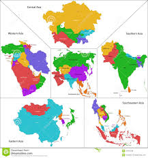 Central And Southwest Asia Map Quiz by Map Of Asia By Region You Can See A Map Of Many Places On The