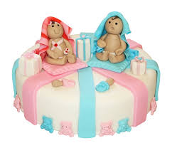 babies and bears cake gender reveal cakes