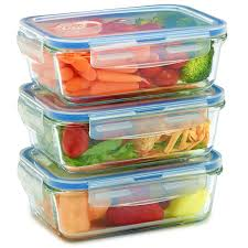 amazon com 3 pack glass meal prep containers for food storage w