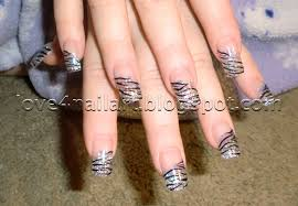 love4nailart zebra glitter acrylic nails