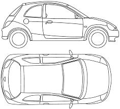 2008 ford ka hatchback blueprints free outlines