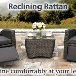 garden furniture set reclining chairs roselawnlutheran rattan