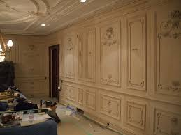 Decorative Styles Decoration Ideas Casual Cream Oak Wooden Decorative Carved Wall